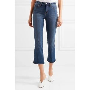 L'Agence Pacifica Cropped Baby Flare Jeans sz 25